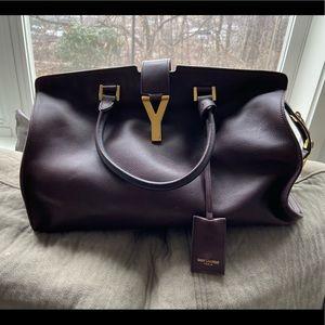 YSL Yves Saint Laurent Cabas Satchel Bag Authentic
